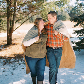 Amy Rae Photography // Country Winter Engagement Session Cannon Falls, Minnesota // www.amyraephotography.com